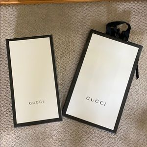Gucci bag and box